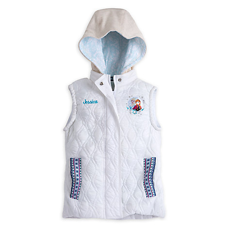 Anna and Elsa Hooded Vest for Girls - Personalizable