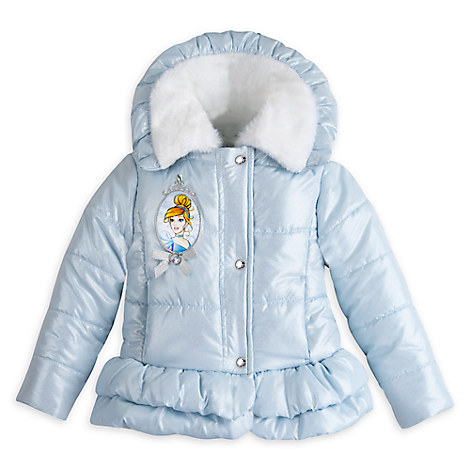 Cinderella Winter Jacket for Girls - Personalizable