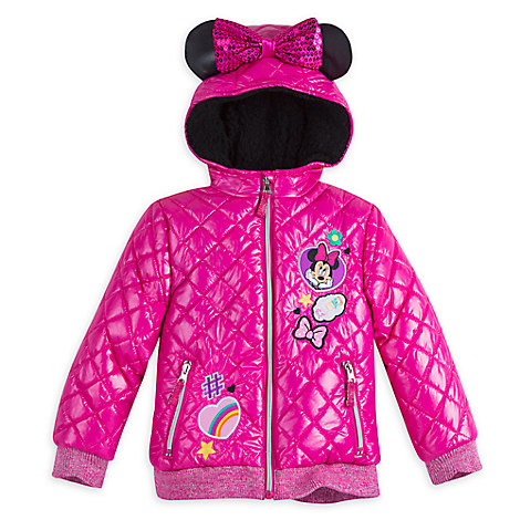 Minnie Mouse Winter Jacket for Girls - Personalizable