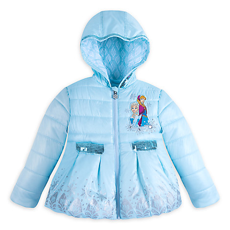 Anna and Elsa Winter Jacket for Girls - Personalizable