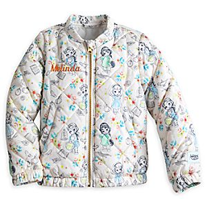Disney Animators' Collection Quilted Jacket for Girls - Personalizable
