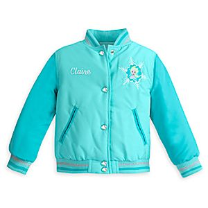 Elsa Varsity Jacket for Girls - Frozen - Personalizable