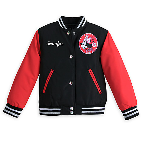 Minnie Mouse Varsity Jacket for Girls - Red - Personalizable