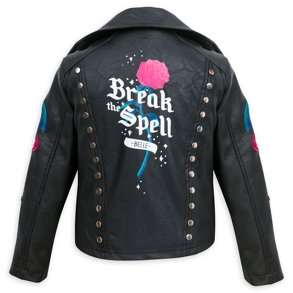 Belle Simulated Leather Jacket for Girls – Beauty and the Beast
