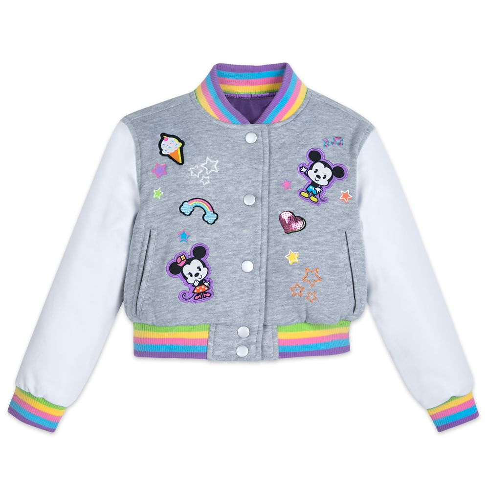 Mickey and Minnie Mouse Cutie Varsity Jacket for Girls