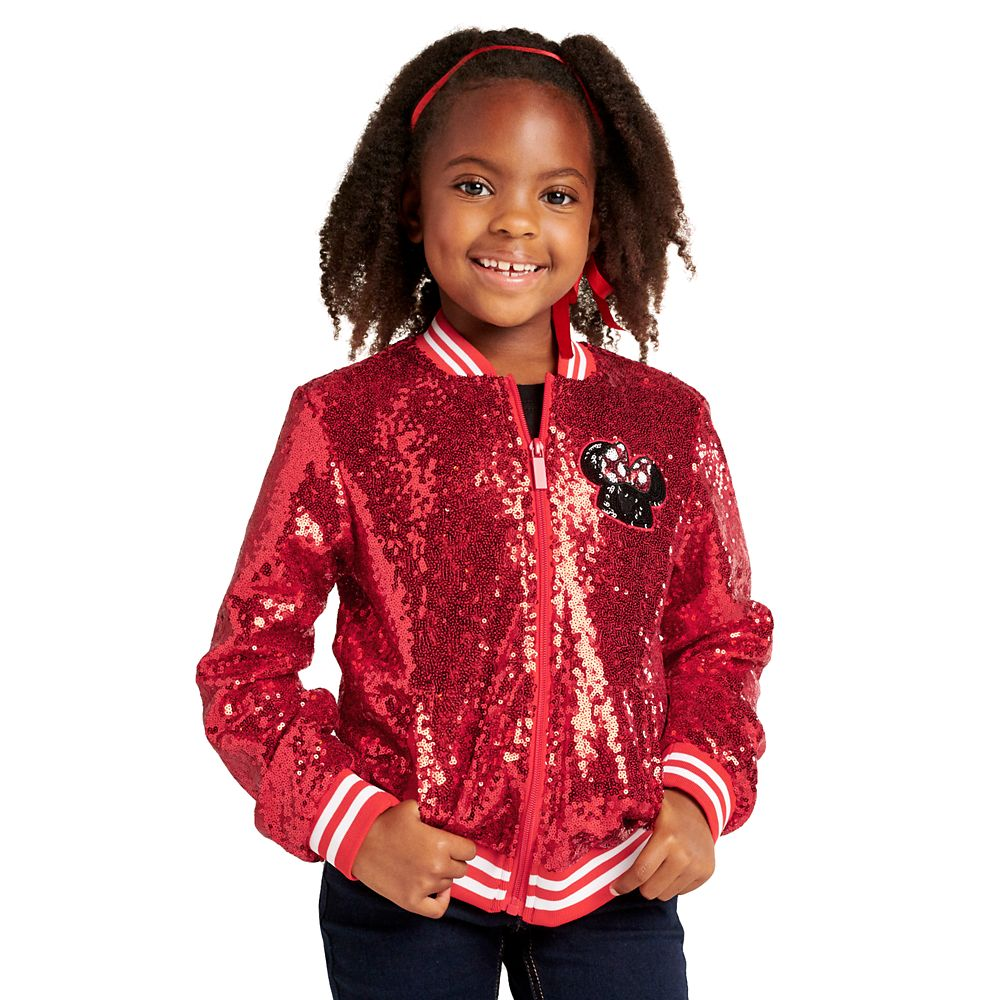 Minnie Mouse Red Sequin Jacket for Girls