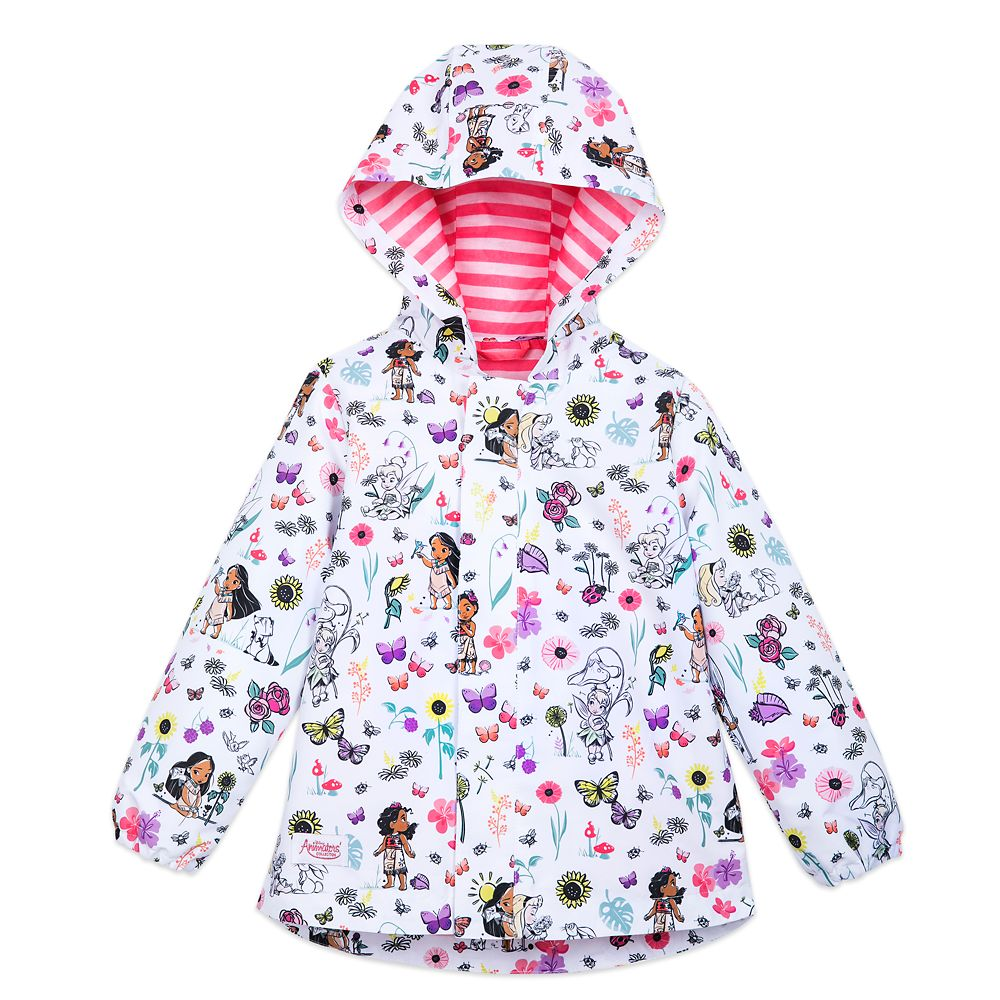 Disney Animators' Collection Packable Rain Jacket and Attached Carry Bag for Kids