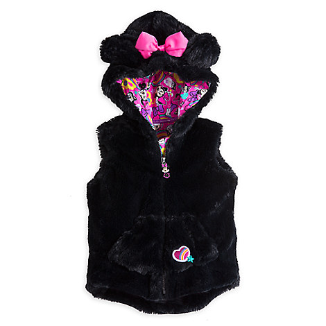 Minnie Mouse Clubhouse Faux Fur Hooded Vest for Girls