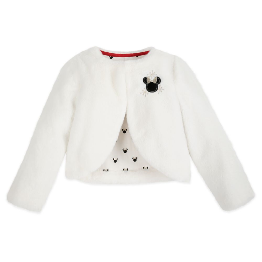 Minnie Mouse Holiday Faux Fur Jacket for Girls