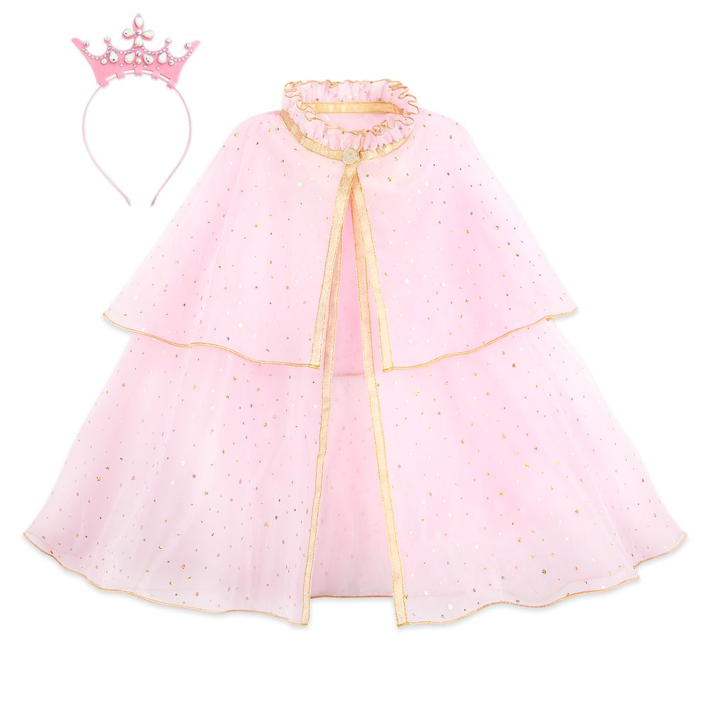 Disney Princess Cape and Crown Headband Set for Girls