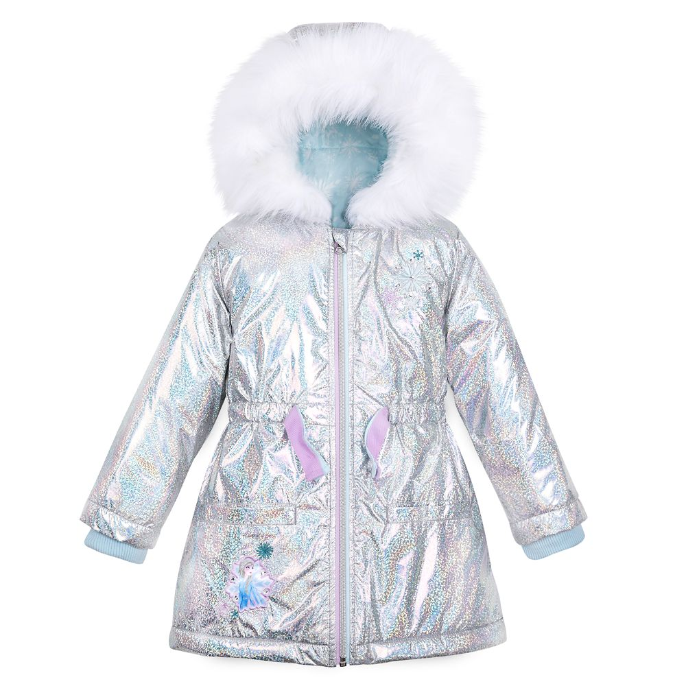 Toddler Girl Disney Frozen Elsa Hooded Fleece Jacket