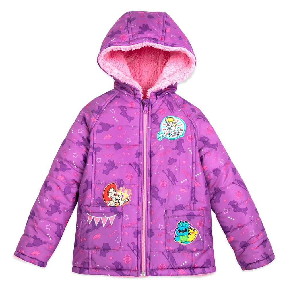 Toy Story 4 Hooded Reversible Puffy Jacket for Girls
