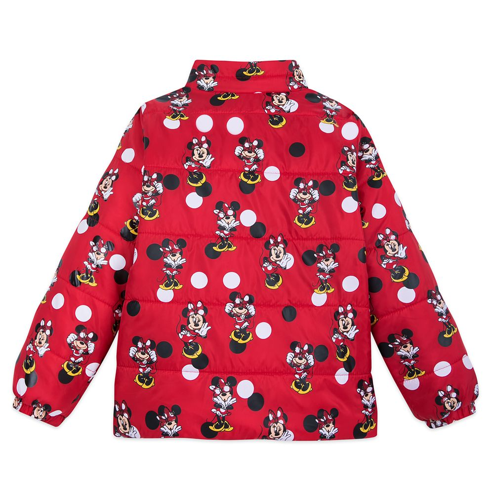 Minnie Mouse Red Lightweight Puffy Jacket for Girls