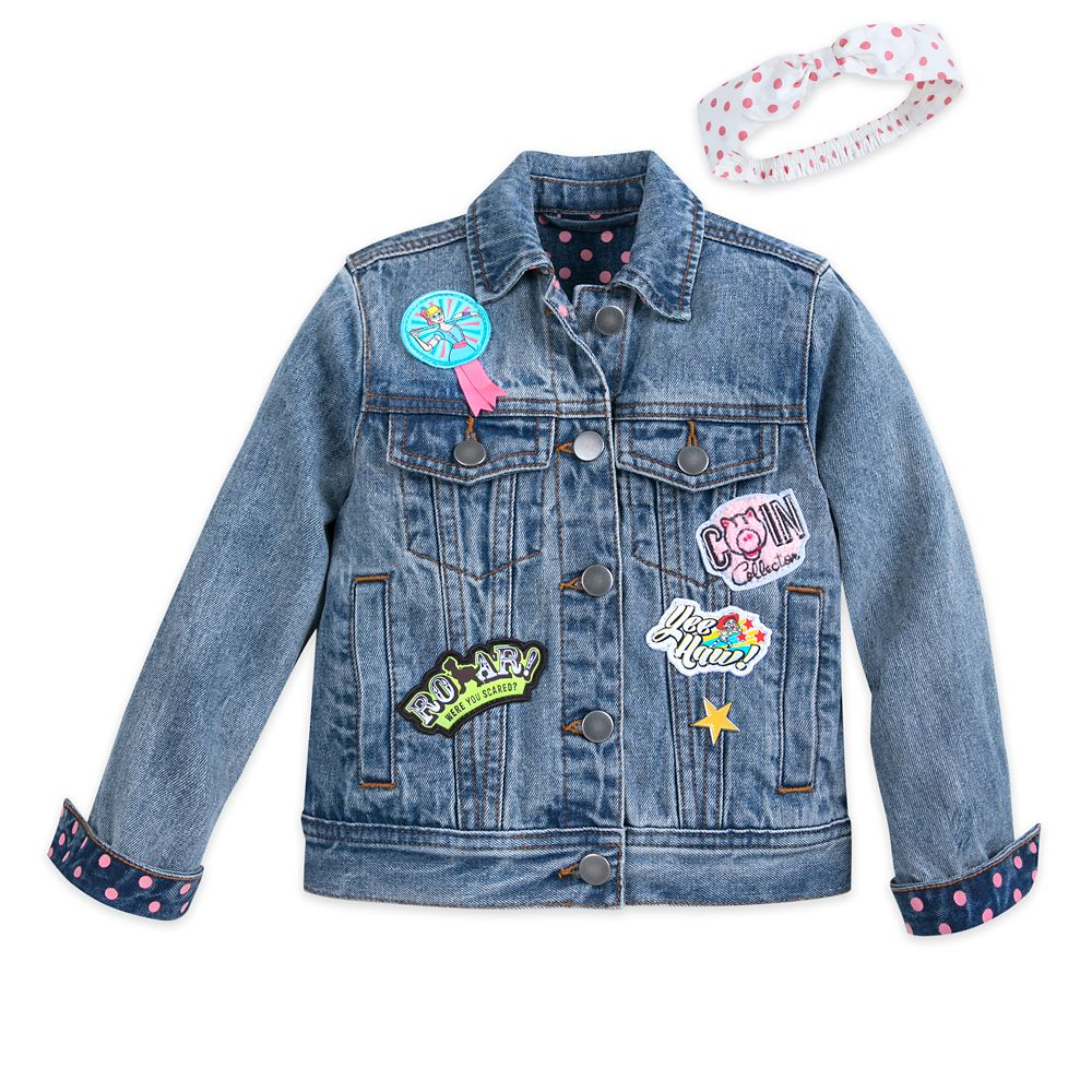 Toy Story 4 Denim Jacket and Headband for Girls