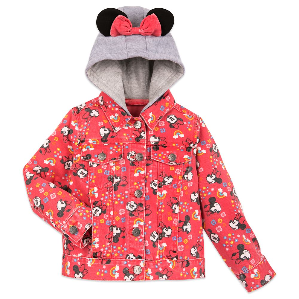 Minnie Mouse Hooded Denim Jacket for Girls