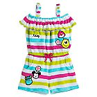 Disney Emoji Swim Cover-Up Romper for Girls - Personalizable