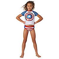 Captain America Swim Set for Girls - 3-Pc.