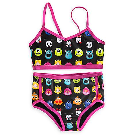 Disney Emoji Swimsuit for Girls - 2-Piece