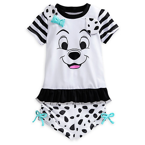 101 Dalmatians Rash Guard Set for Girls