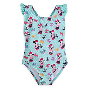Minnie Mouse and Figaro Swimsuit for Girls