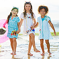 Anna and Elsa Swim Cover-Up for Girls