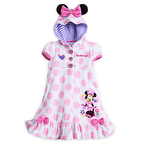 Minnie Mouse Happy Helpers Swim Cover-Up for Girls - Personalizable