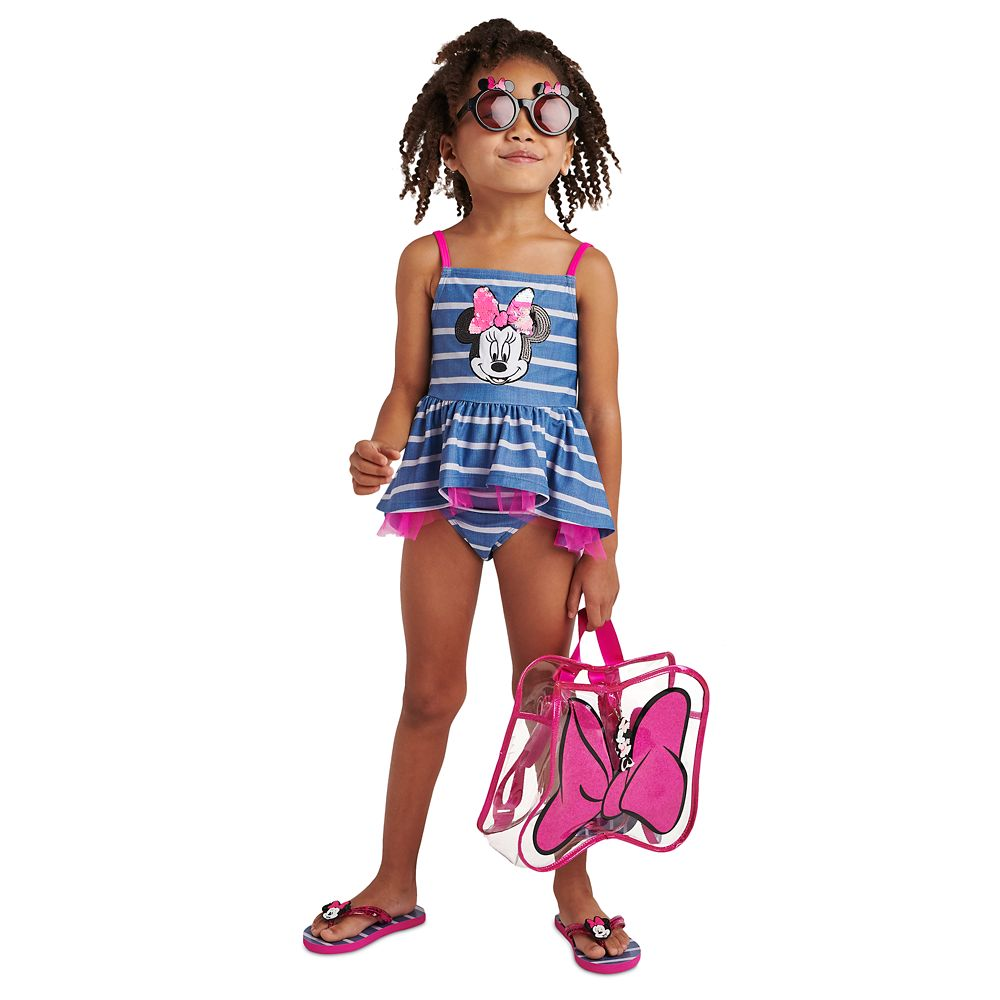 Minnie Mouse Sequin Swimsuit for Girls