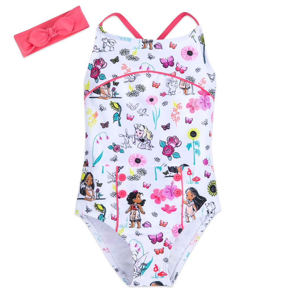 Disney Animators' Collection Swimsuit Set for Girls