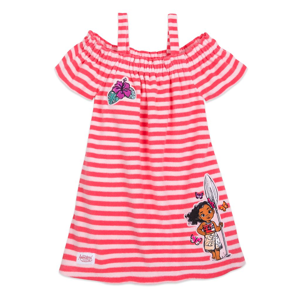 Disney Animators' Collection Moana Striped Cover-Up for Girls – Personalized