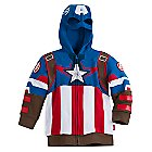 Captain America Zip Hoodies for Boys