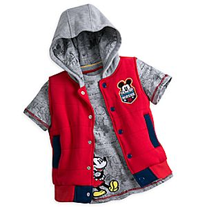 Mickey Mouse Tee and Hooded Vest Set for Boys
