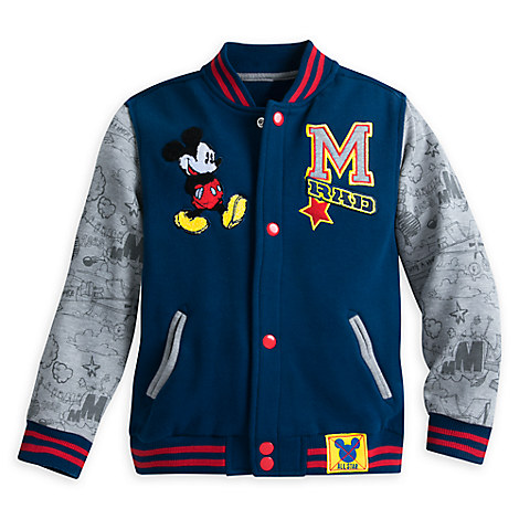 Mickey Mouse Varsity Knit Sweat Jacket for Boys