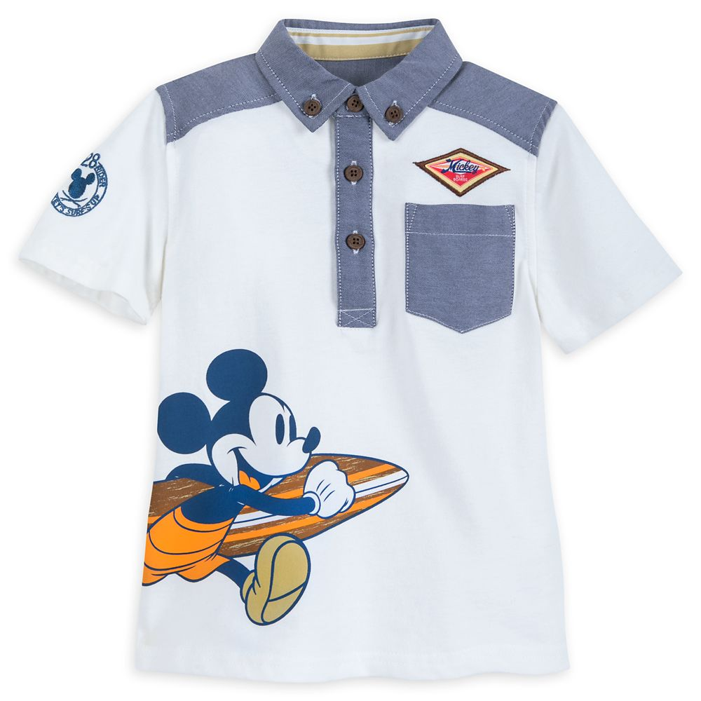 Mickey Mouse Surf Team Shirt and Shorts Set for Boys