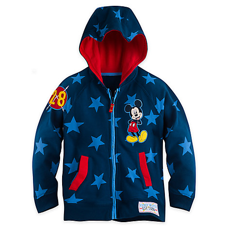 Mickey Mouse Zip Hoodie for Boys - Personalizable