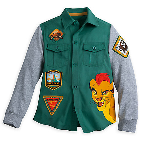 The Lion Guard Woven Shirt with Knit Sleeves for Boys