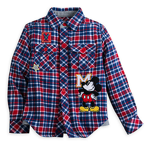 Mickey Mouse Flannel Shirt for Boys