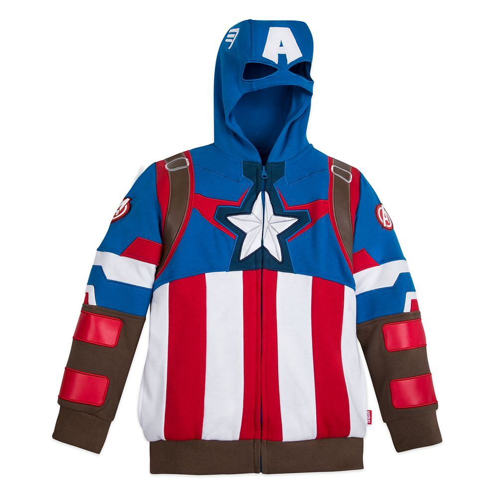 Captain America Zip Hoodie for Boys