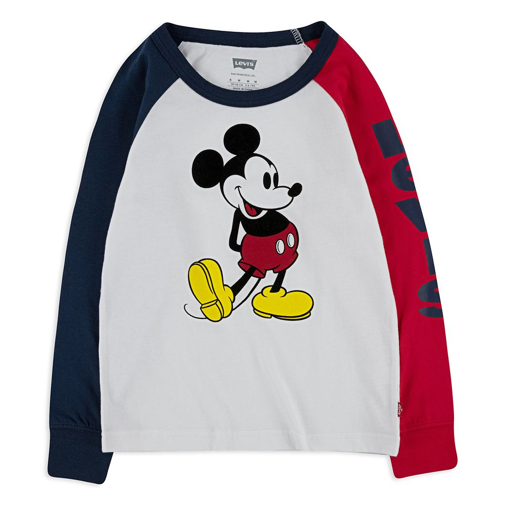 Mickey Mouse Raglan Sleeve Shirt for Boys by Levi's