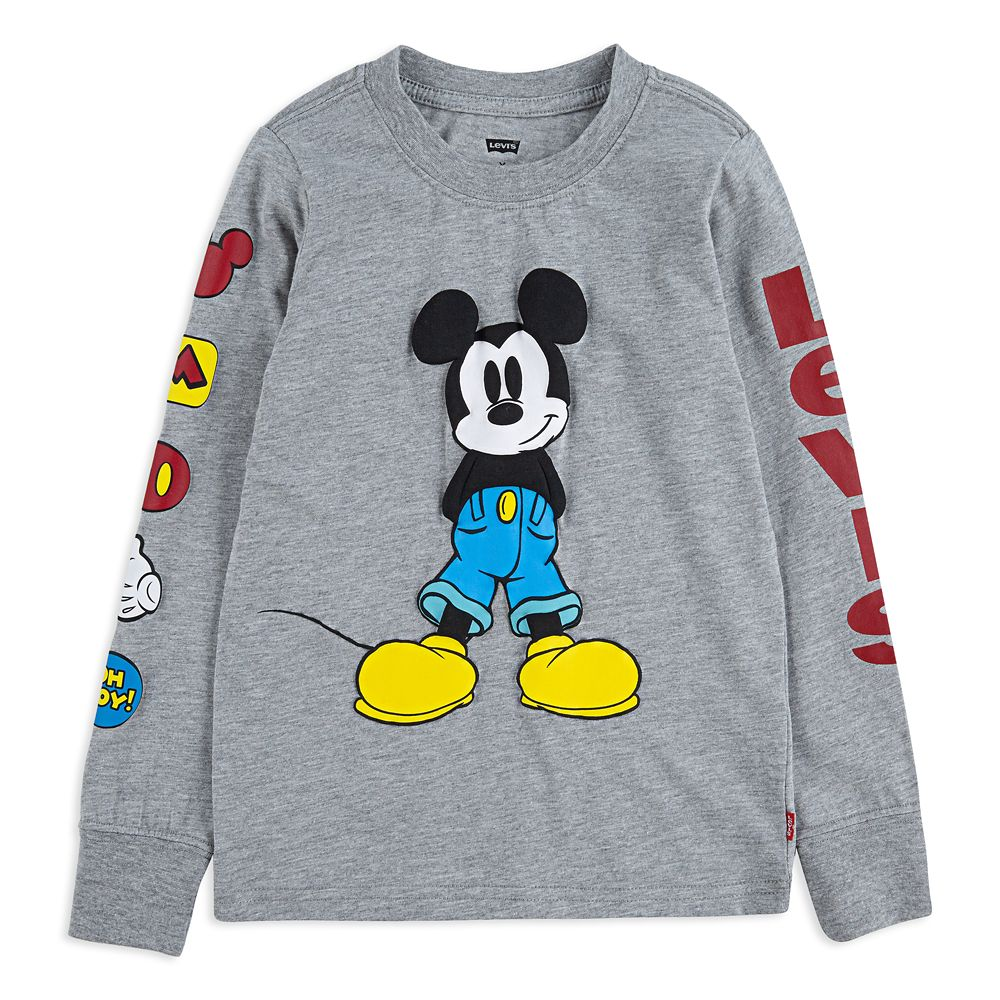 Mickey Mouse Long Sleeve T-Shirt for Boys by Levi's