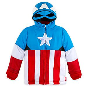Captain America Winter Jacket for Boys - Personalizable