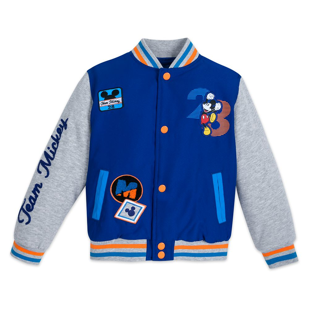 Mickey Mouse Varsity Jacket for Kids Official shopDisney