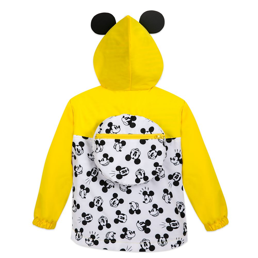 Mickey Mouse Packable Rain Jacket and Attached Carry Bag for Kids