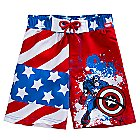Captain America Swim Trunks for Boys
