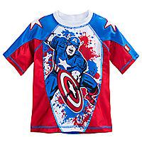 Captain America Rash Guard for Boys