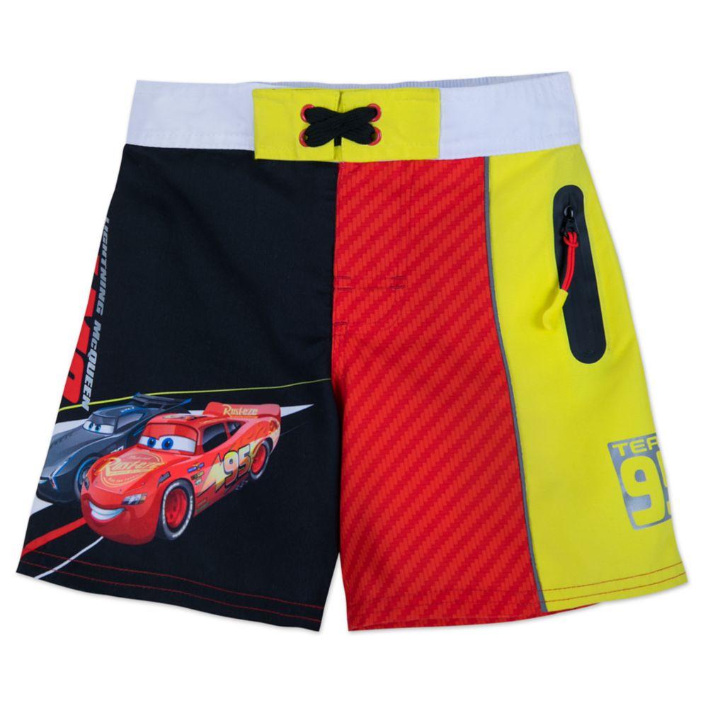 Lightning McQueen and Jackson Storm Swim Trunks for Boys