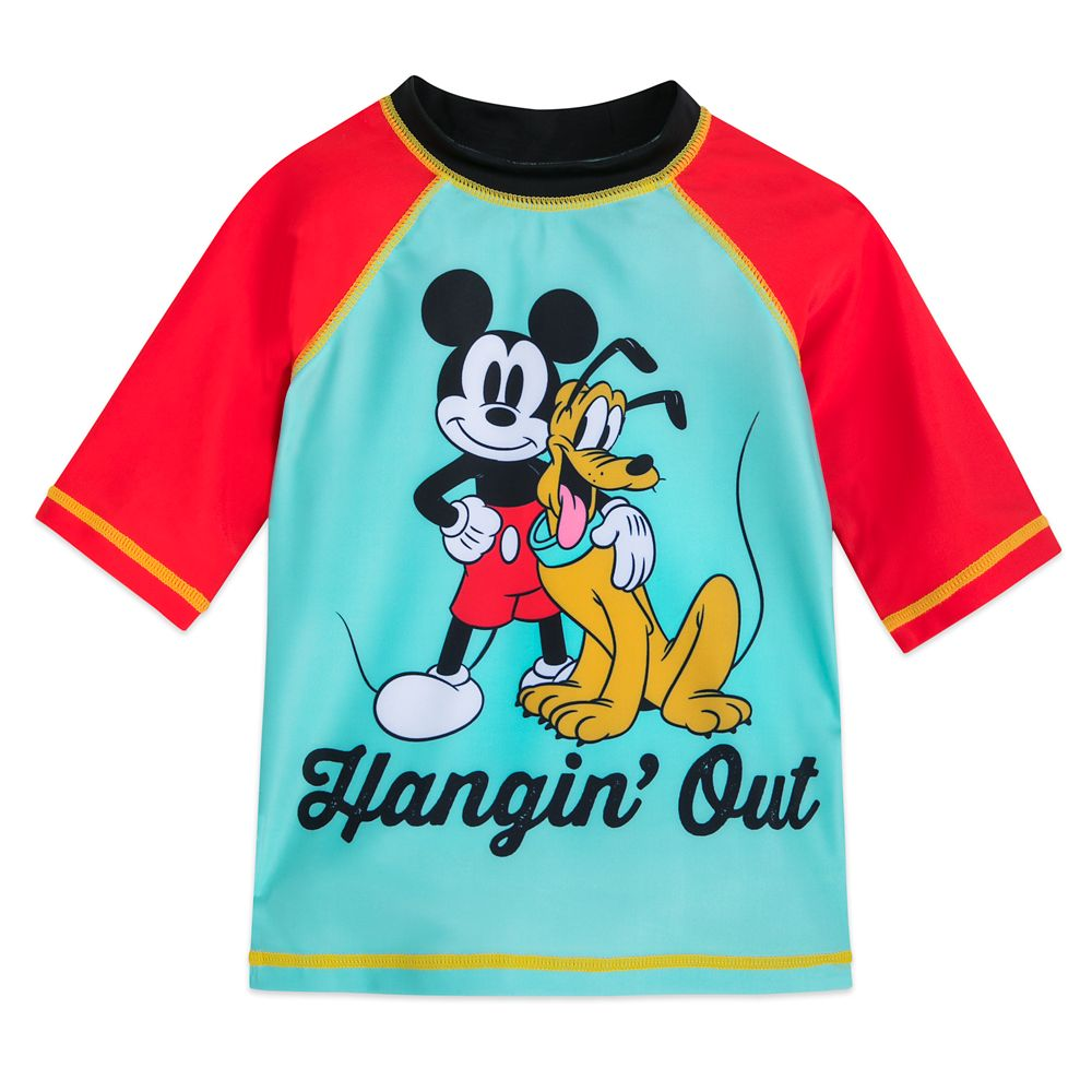 Mickey Mouse and Pluto Rash Guard for Boys