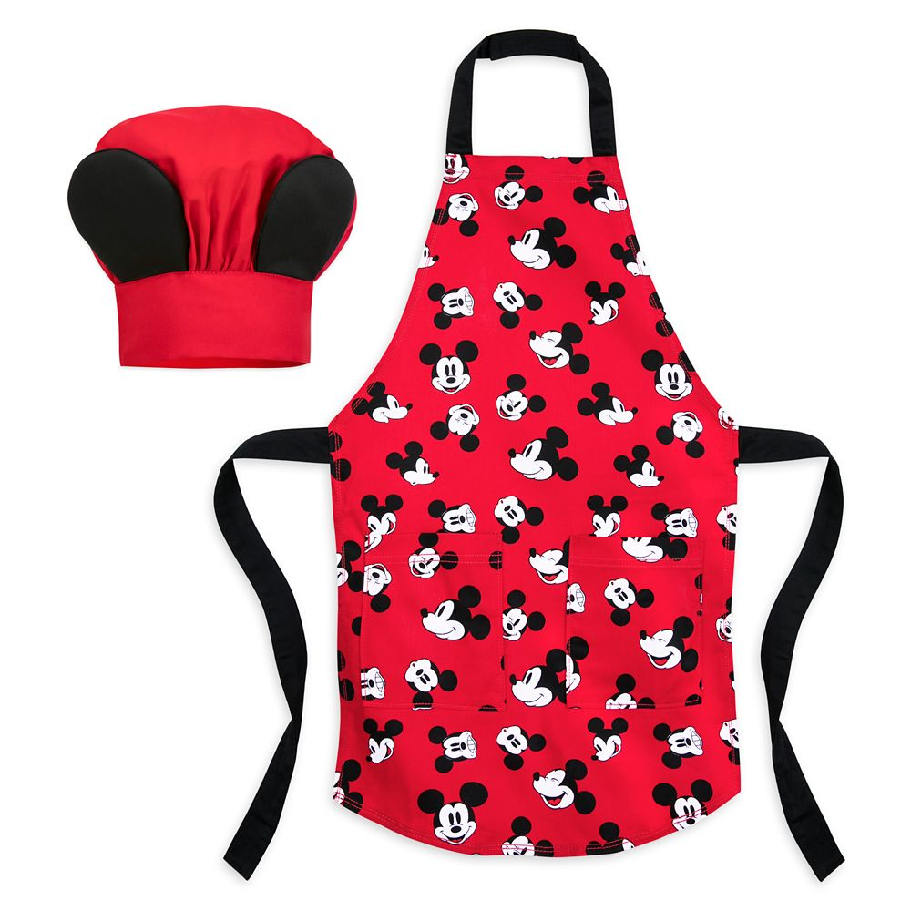 Mickey Mouse Chef's Apron and Hat for Kids