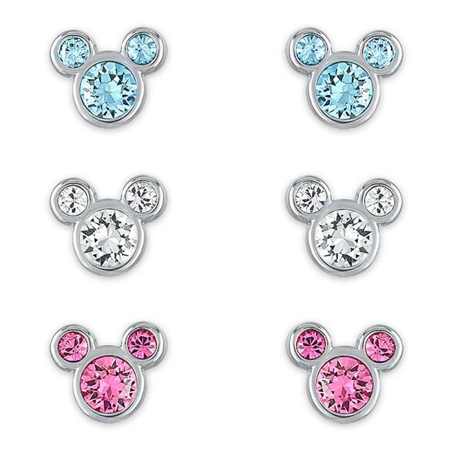 Mickey Mouse Swarovski Crystal Birthstone Earrings