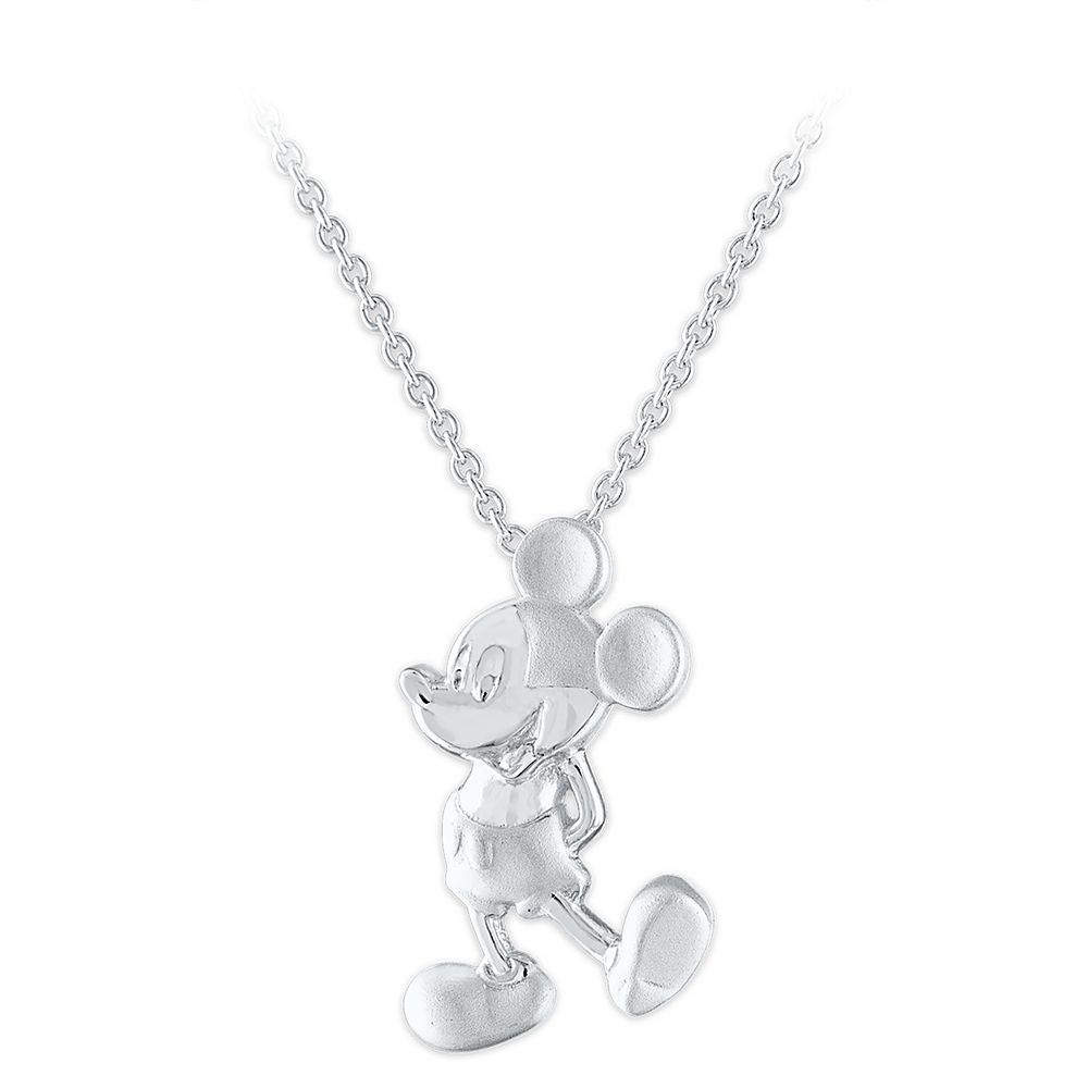 Mickey Mouse Sterling Silver Pendant Necklace