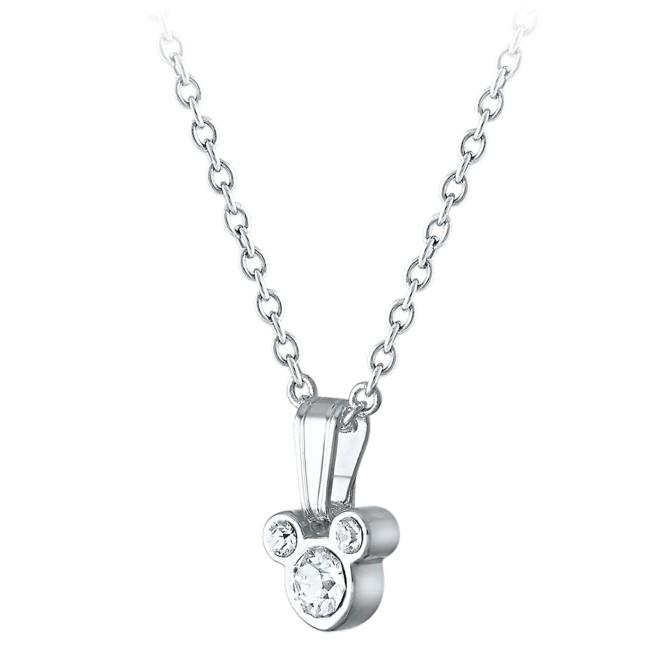 Mickey Mouse Swarovski Crystal Necklace